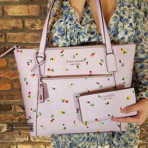 Kate Spade Cameron Pocket Tote Ditsy Floral Wallet